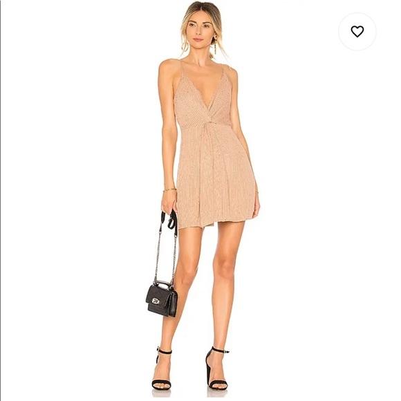 x REVOLVE Sharon Dress in Nude & Black